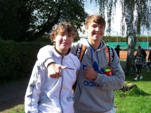 Halbfinalisten beim Jugendcup in Wetzlar: Luca Krämling (RSV Büblingshausen) und Max Fröhlich (TC Bonbaden)