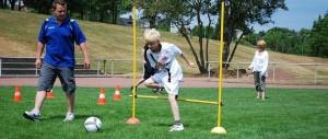 Fußballspaß der Kleinsten bei bestem Wetter