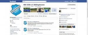 RSV-Facebook-Auftritt erweitert