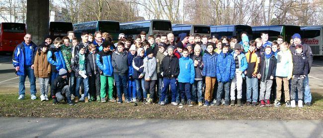 Bundesligafahrt der RSV-Jugendteams: Spektakel in Leverkusen