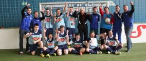 Fußball-ID: Stepi gratuliert beim 1. Hallencup des HBRS in Darmstadt