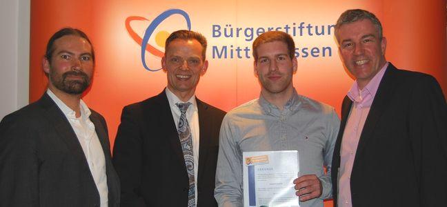 Dominik Schmidt erhält Ehrenamtspreis für Jugendliche der Bürgerstiftung Mittelhessen