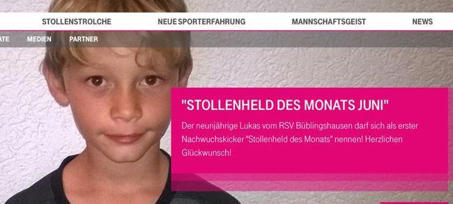 """Tor des Monats: Lukas ist """"Stollenheld des Monats Juni"""""""