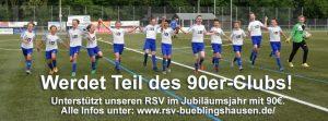 """""""90er-Club"""" des Fußball-Fördervereins zum Vereinsjubiläum! Jetzt Mitglied werden!"""