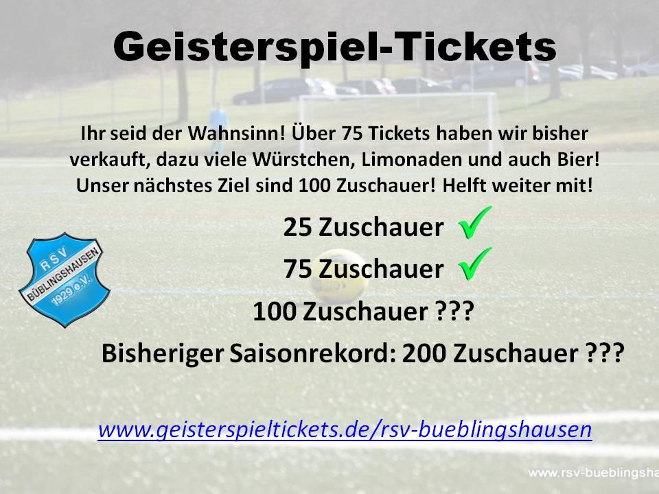 """""""Geisterspiel-Tickets"""": Unterstützt weiter den Fußball in Büblingshausen auch in der Corona-Zeit!"""