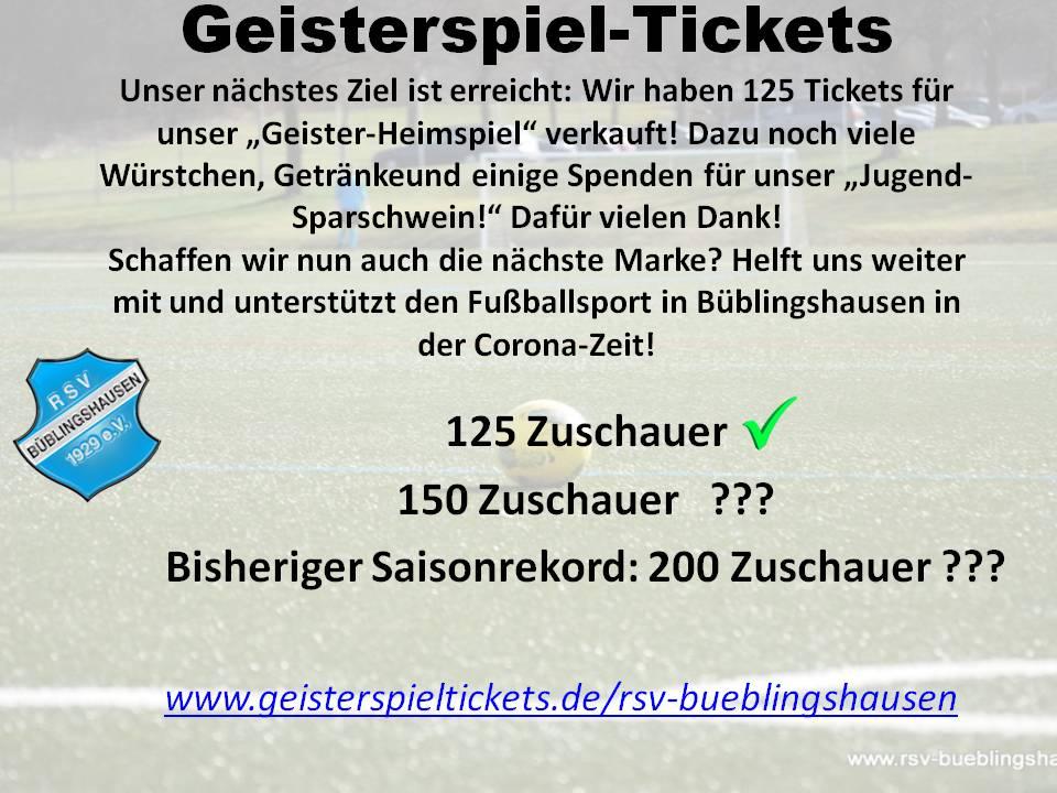 Geisterspiel-Update: 125 Tickets sind erreicht!