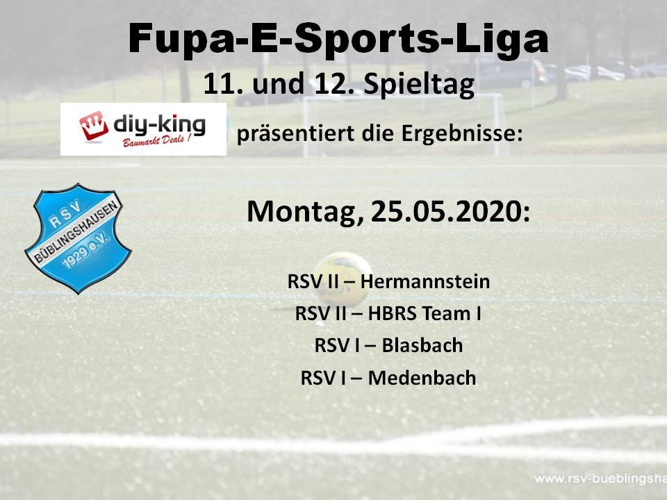 Fupa-E-Sports-Liga: RSV I heute im Spitzenspiel gegen Medenbach
