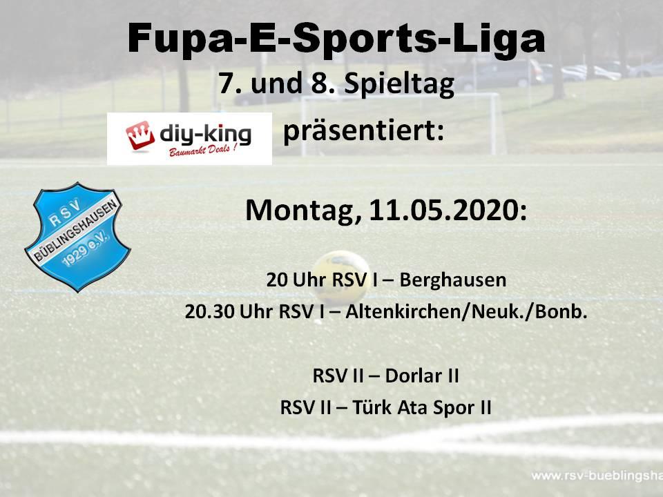 E-Sports-Liga: RSV-Teams kämpfen am heutigen Montag wieder um Punkte