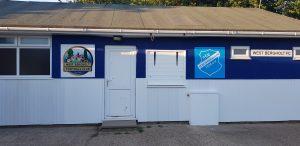 Clubheim in West Bergholt im RSV-Look