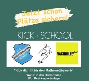 """""""Kick+School"""" in den Herbstferien: Besser in Mathe und danach noch kicken! Jetzt anmelden!"""