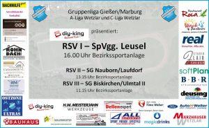 Der Spitzenreiter kommt: RSV empfängt Sonntag Alsfelder Vertreter SpVgg. Leusel