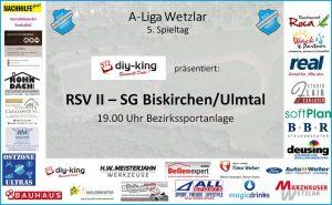 Read more about the article Nächste Englische Woche: RSV II empfängt heute Abend Biskirchen/Ulmtal