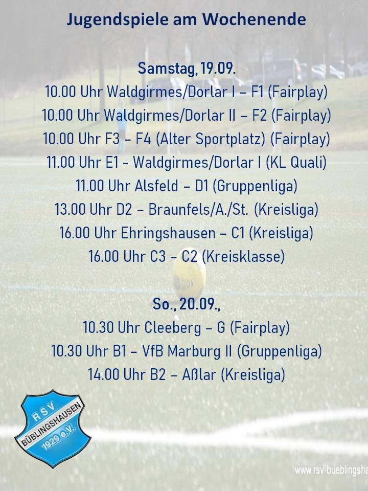 Alle Jugendmannschaften am Wochenende im Einsatz – D1 reist nach Alsfeld, B1 empfängt den VfB Marburg