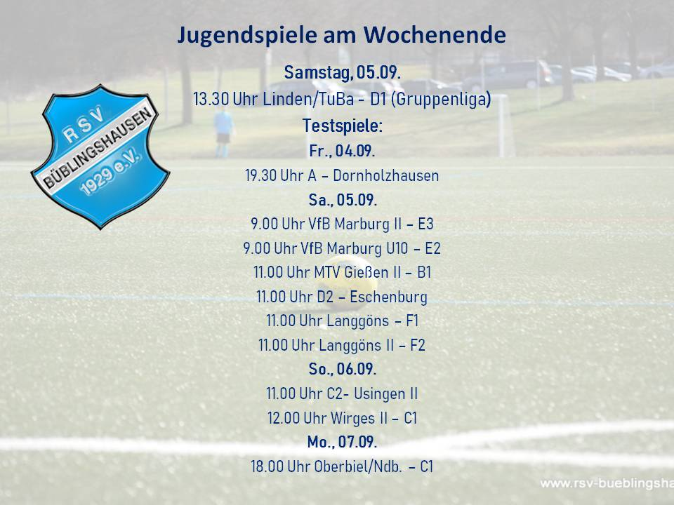 D-Jugend eröffnet RSV-Pflichtspiel-Saison