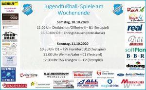 Jugendfußball am Wochenende: D1 empfängt FSV Frankfurt