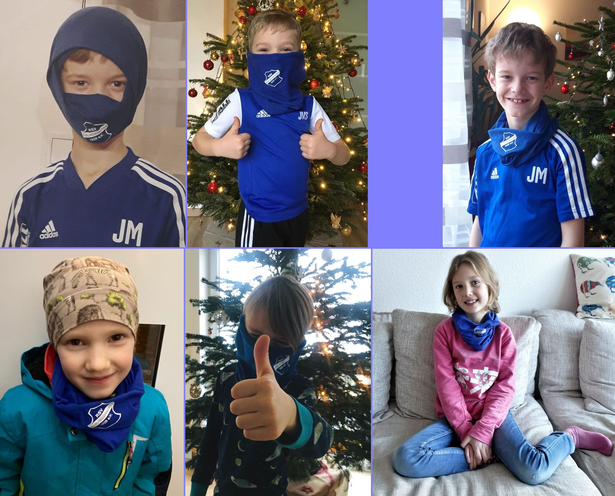 Jüngste RSV-Kicker freuen sich über Weihnachtsgeschenk