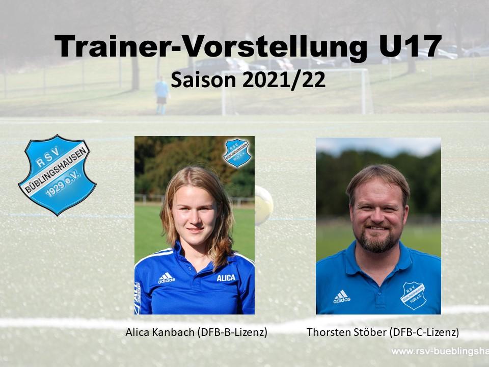 Trainerteam U17 für die neue Saison: Kontinuität und Qualität ist Trumpf