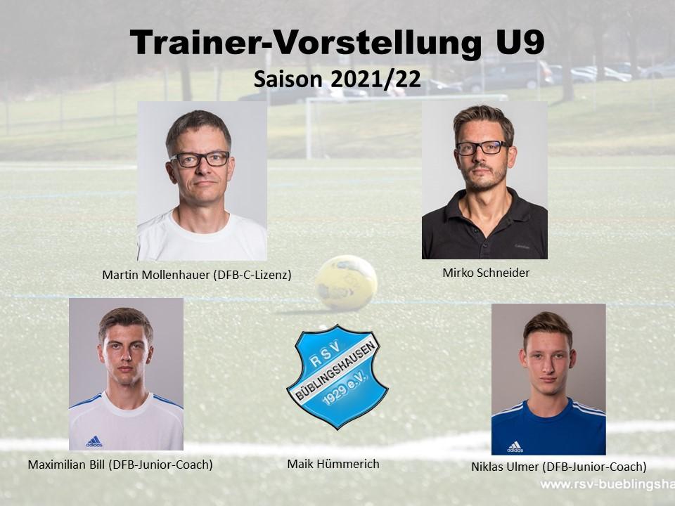 You are currently viewing Trainervorstellung Saison 2021/22: Kontinuität plus frischer Wind bei U9