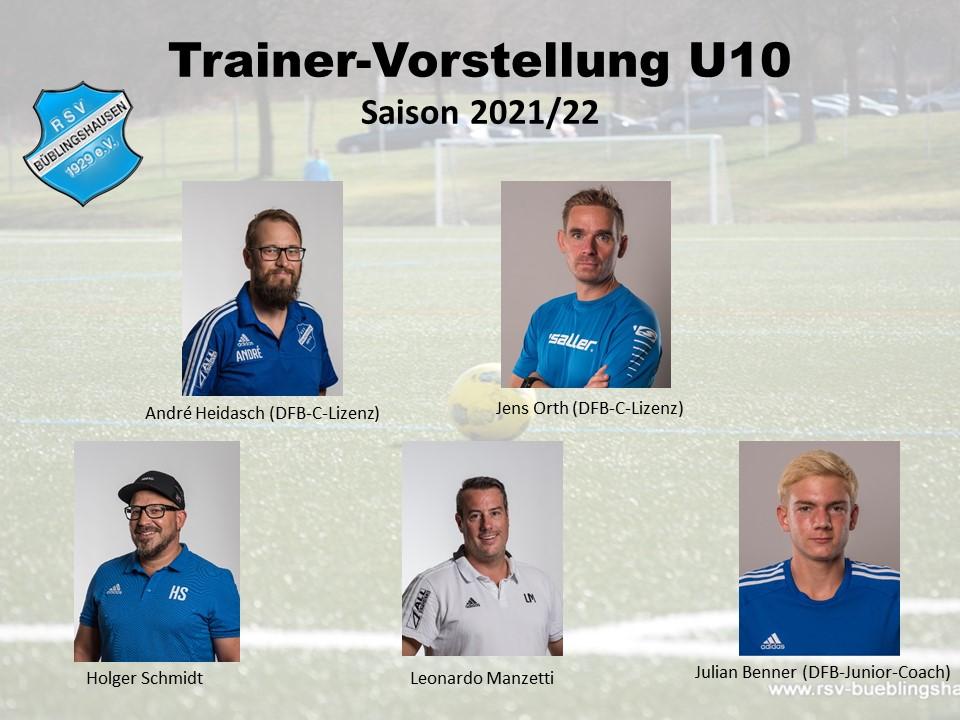 Trainervorstellung 2021/22: Quintett coacht U10