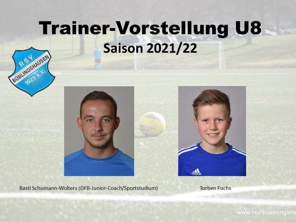 Trainervorstellung Saison 2021/22: Junges Trainer-Duo bei U8