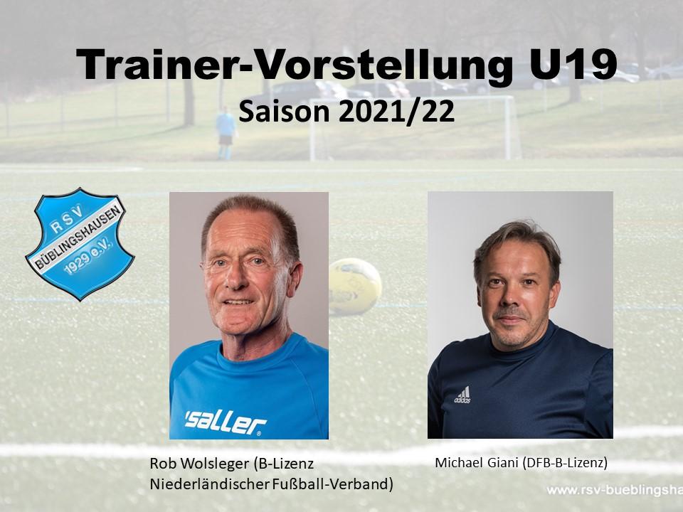 Trainervorstellung für die nächste Saison: Kontinuität bei der U19