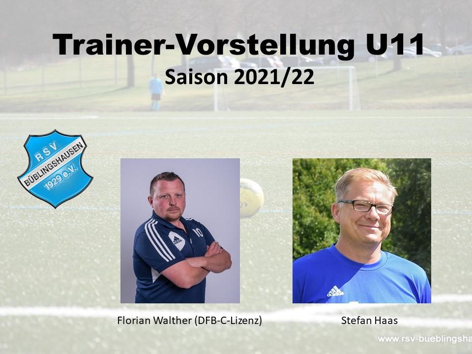 Trainervorstellung 20/21: Walther und Haas führen U11