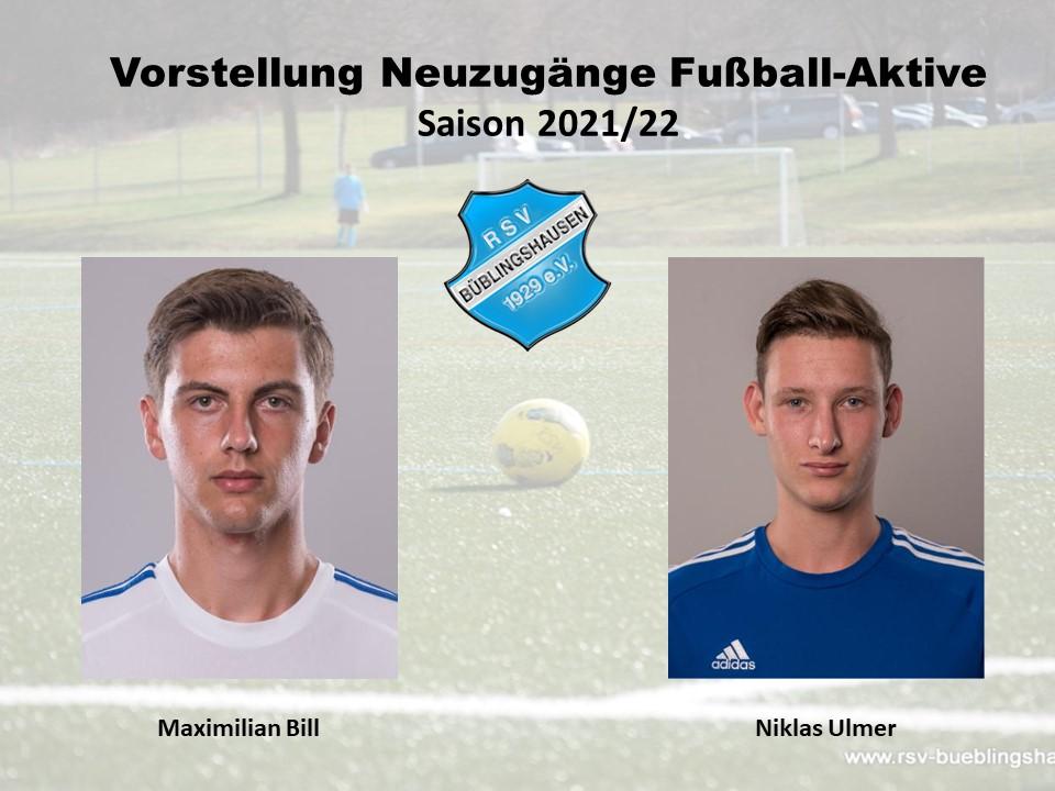 Vorstellung Neuzugänge: Unsere Eigengewächse Maximilian Bill und Niklas Ulmer