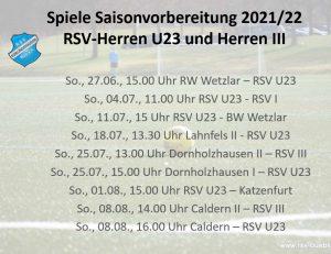 Read more about the article U23 eröffnet heute Testspiel-Reigen der Herren-Teams
