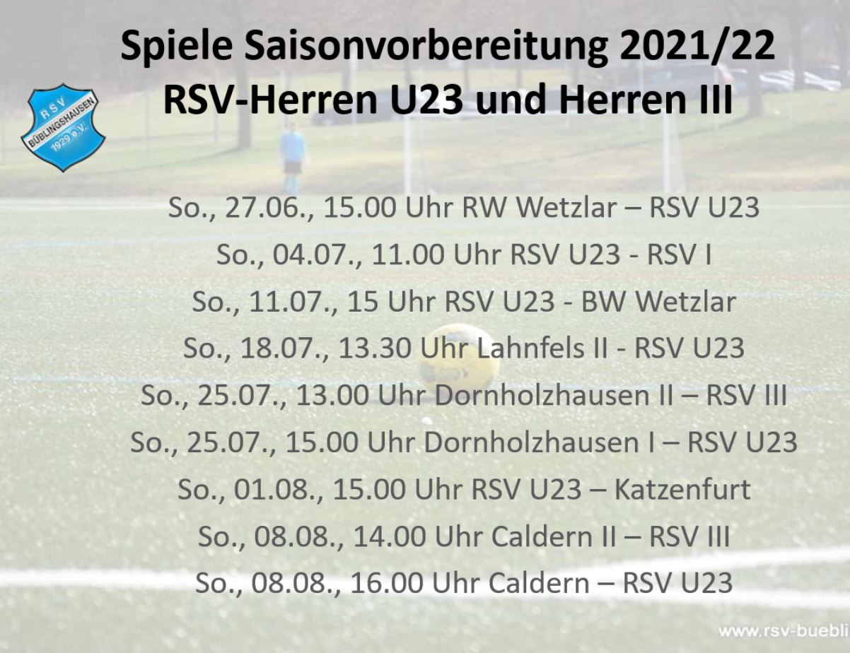 You are currently viewing U23 eröffnet heute Testspiel-Reigen der Herren-Teams