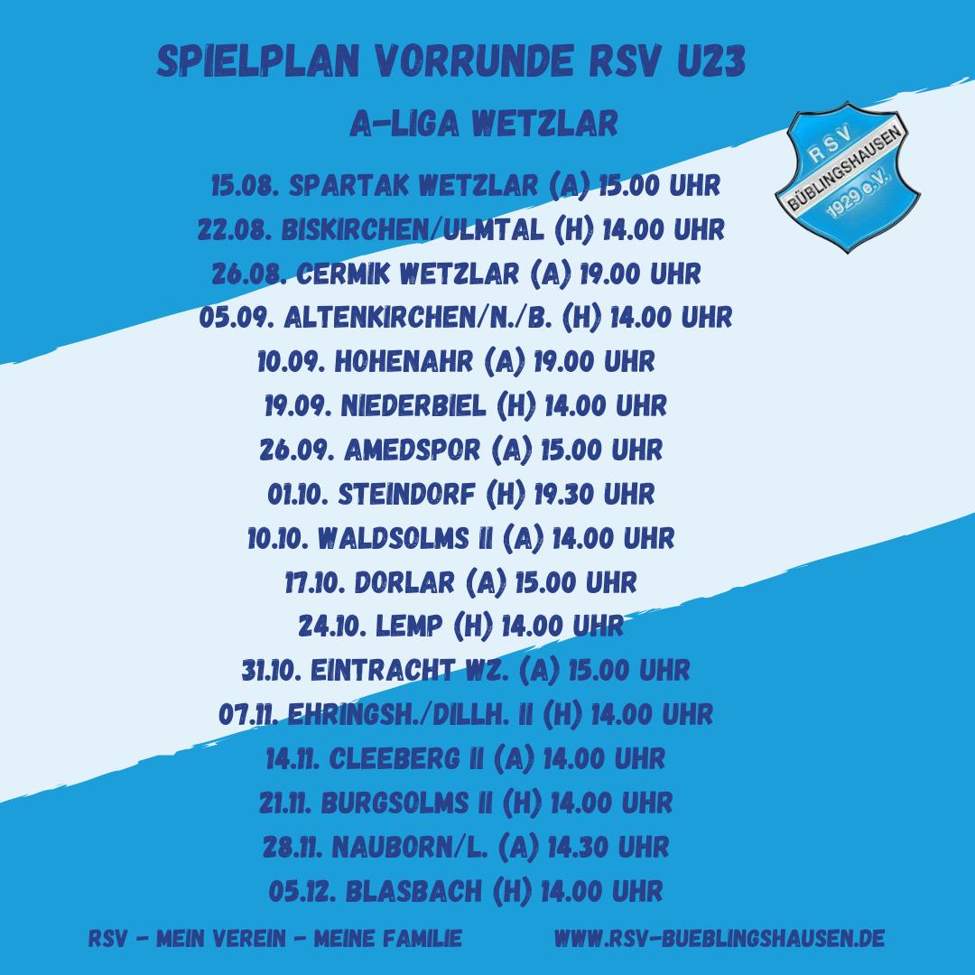 You are currently viewing Spielplan A-Liga: RSV U23 startet mit Stadtderby bei Spartak
