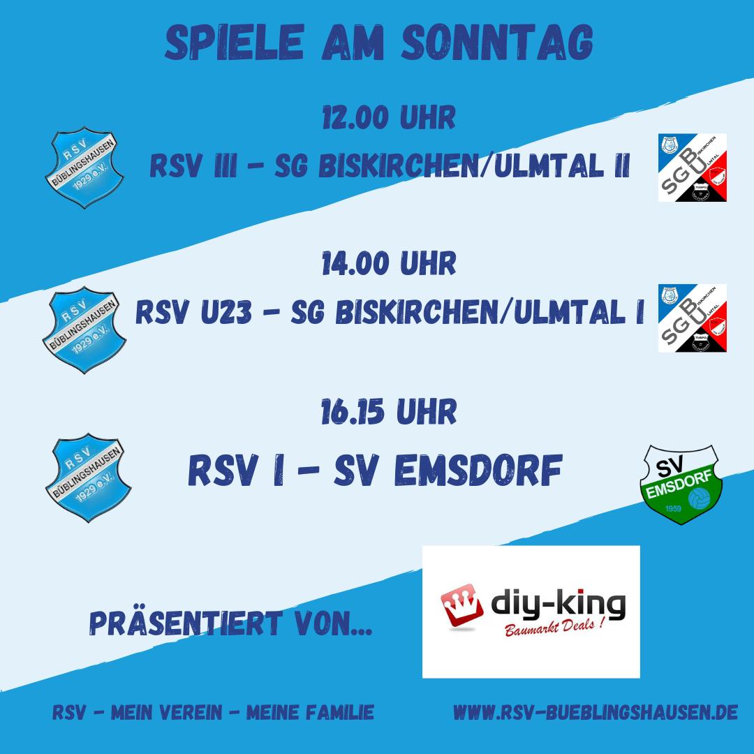 """You are currently viewing Heimspieltag am Sonntag – RSV empfängt ersten Gruppenliga-Tabellenführer, """"Zweite"""" und """"Dritte"""" gegen Biskirchen/Ulmtal"""
