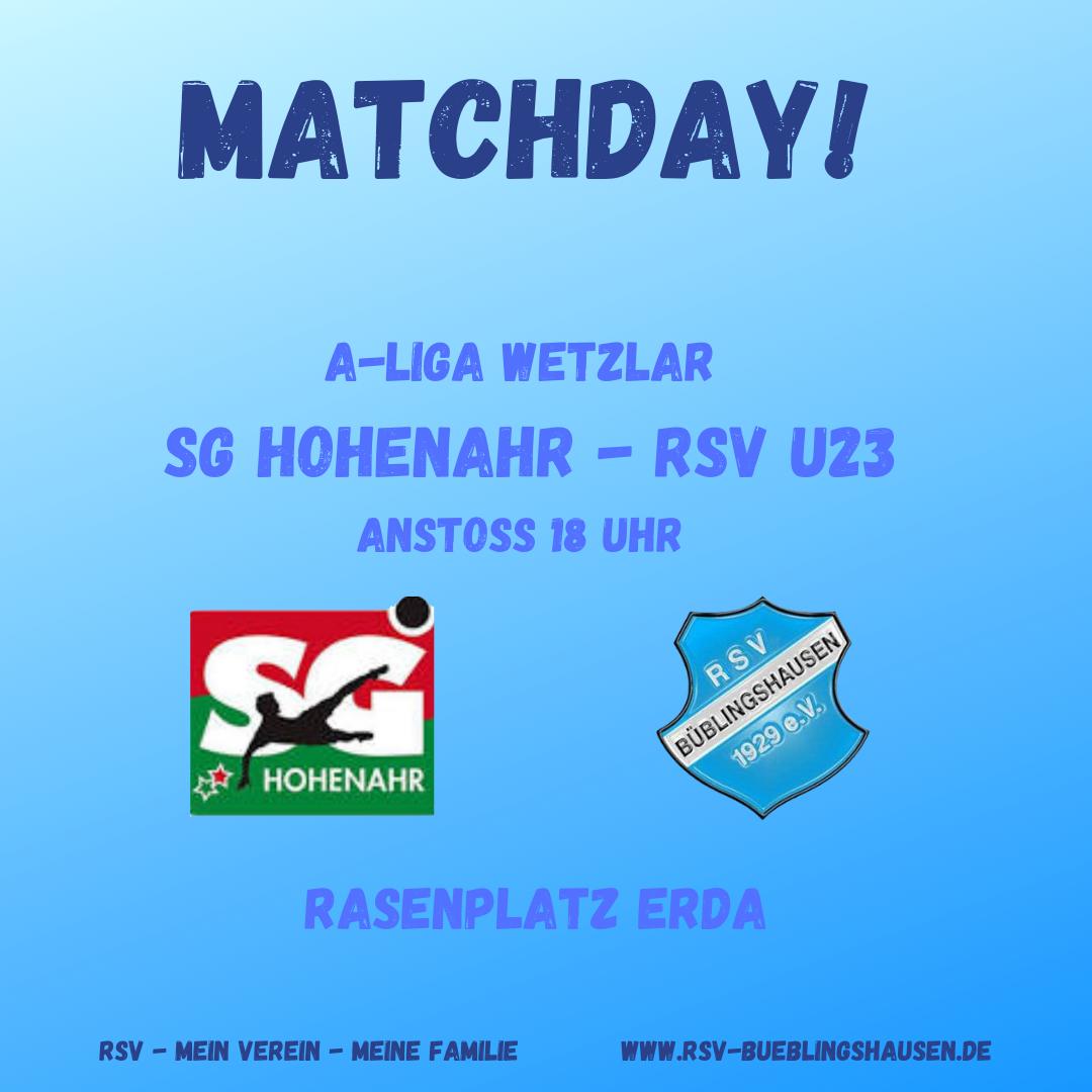 You are currently viewing U23 Freitag in Hohenahr gefordert – Erste Sonntag zu Gast in Biedenkopf