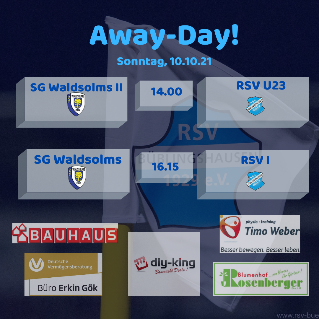 You are currently viewing Beide RSV-Teams Sonntag zu Gast in Waldsolms